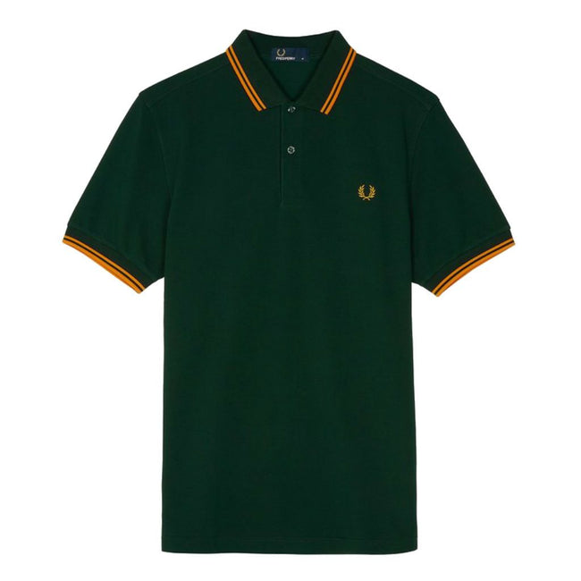 Fred Perry M3600 Twin Tipped Polo Shirt in Evergreen