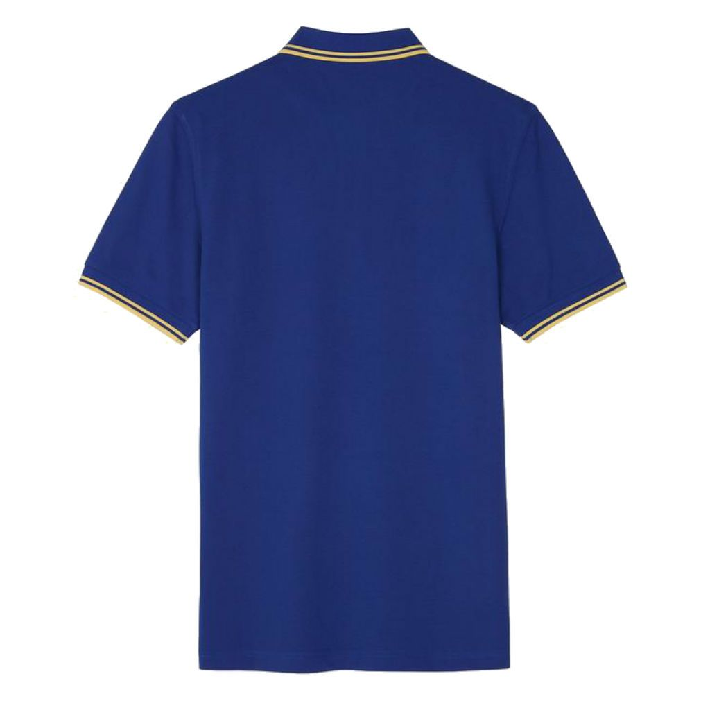 Fred Perry M3600 Twin Tipped Polo in Cobalt / Custard