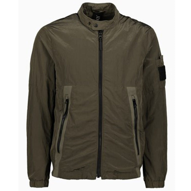 Replay Technical Nylon Bomber Jacket in Green