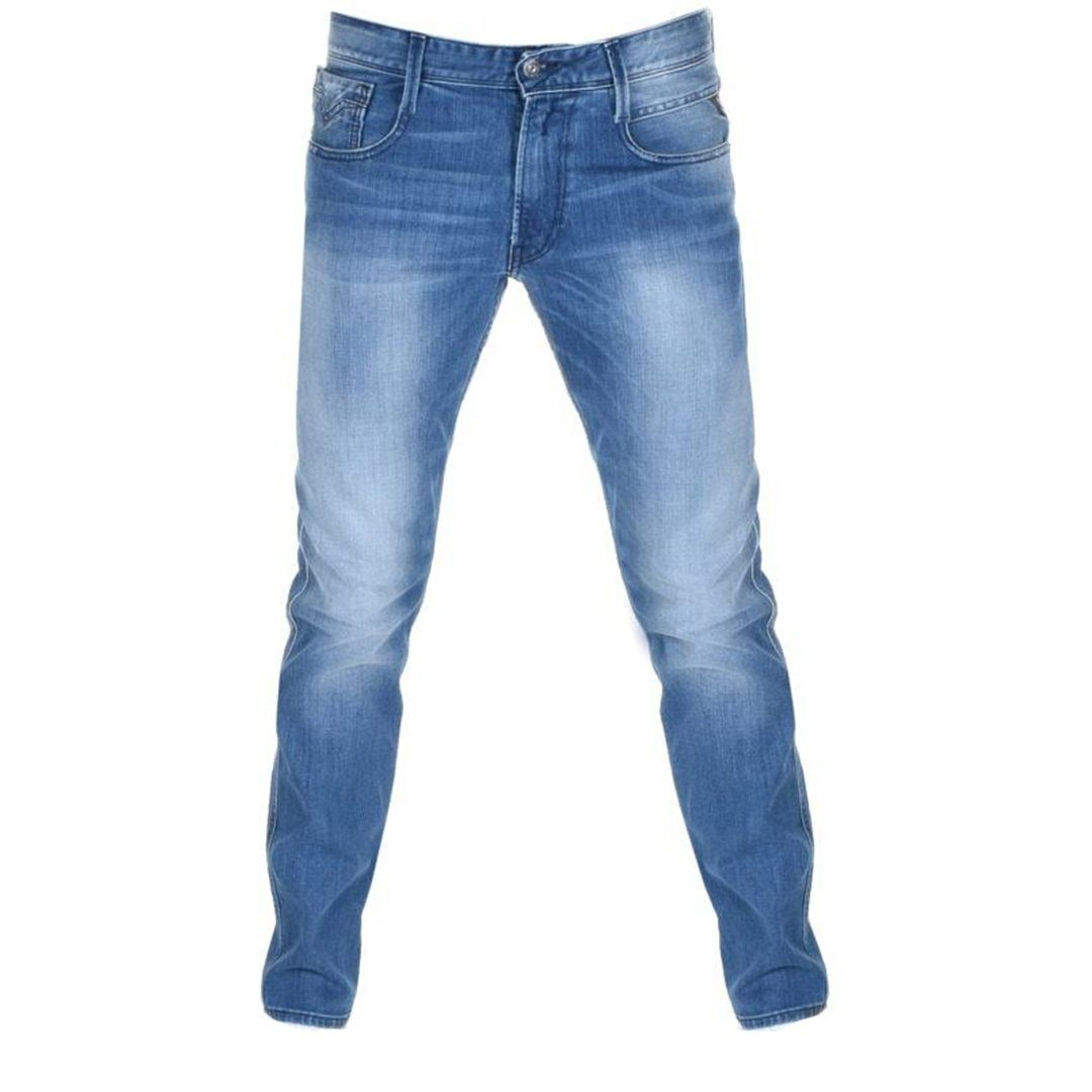 Replay Anbass Jeans in Blue Denim