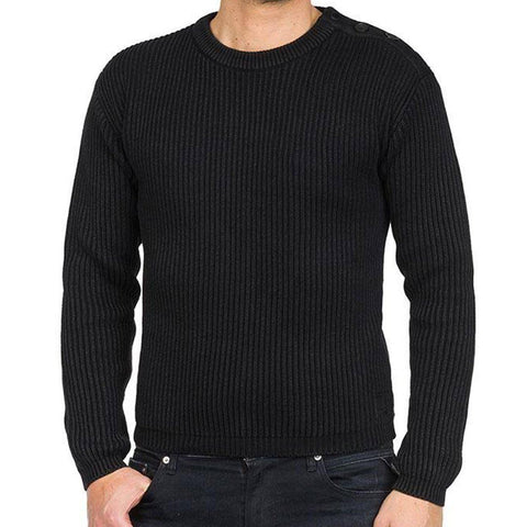 Replay Fisherman Style Loose Fit Jumper in Black Jumpers Replay
