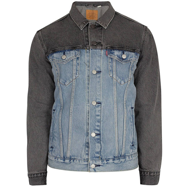 Levi's Banzi Trucker Jacket in Charcoal/ Light Aged Blue