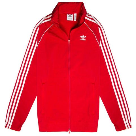 Adidas DV1587 Windbreaker in Power Red Coats & Jackets adidas