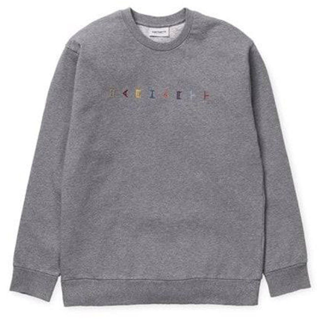 Carhartt Horizontal Sweat in Dark Grey Heather