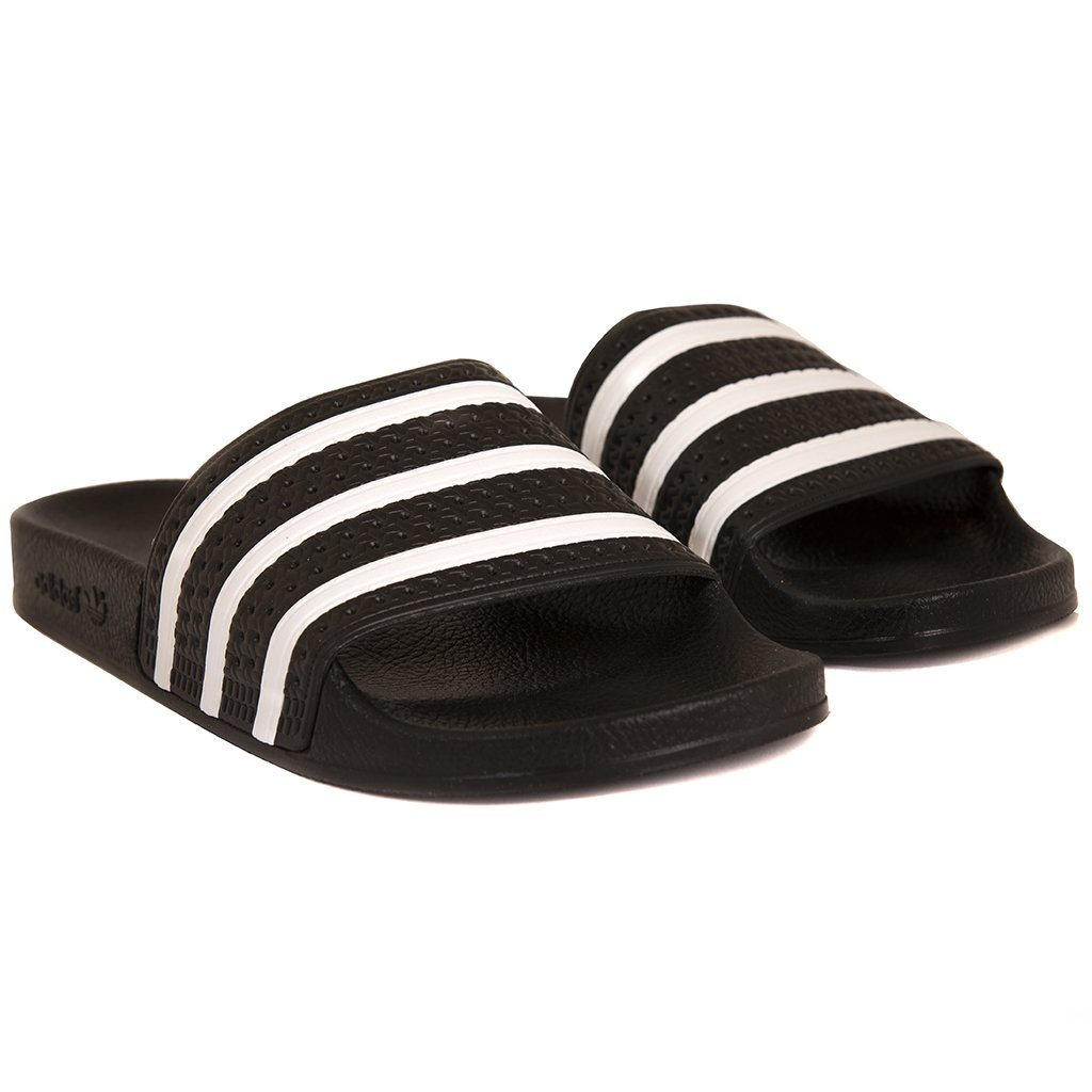 Adidas Adilette Sliders 280647 in Black / Black / White