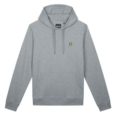 Lyle & Scott Pullover Hoodie in Mid Grey Marl Hoodies Lyle & Scott