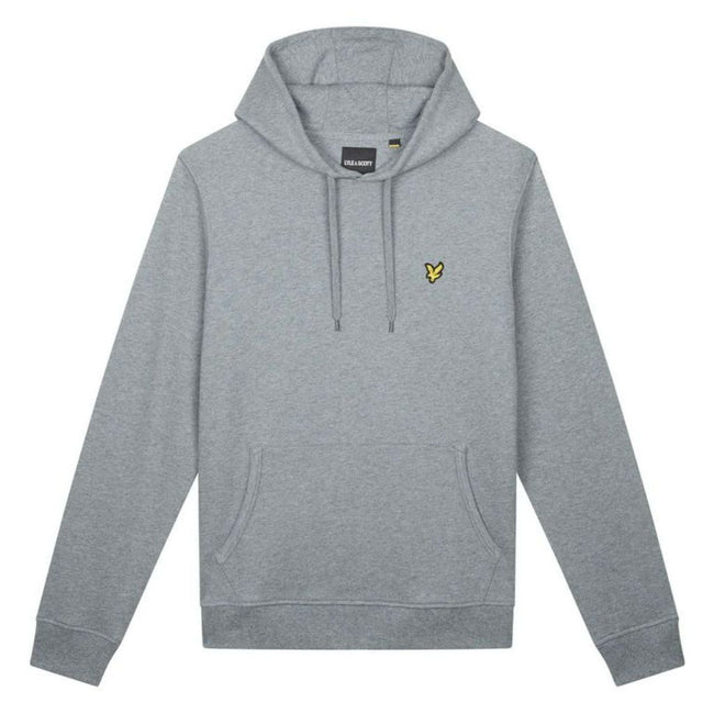 Lyle & Scott Pullover Hoodie in Mid Grey Marl