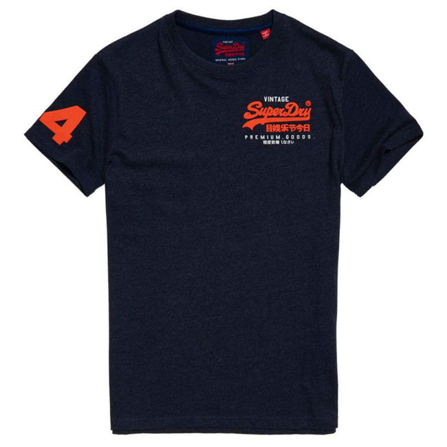 Superdry Premium Goods Duo Essential Tee in Princeton Blue Marl