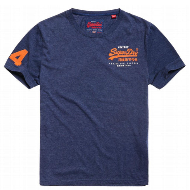 Superdry Premium Goods Essential Lite Tee in Princeton Blue Marl T-Shirts Superdry