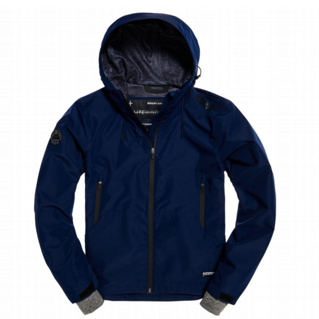 Superdry Technical Elite Windcheater Jacket in Indigo Ink Coats & Jackets Superdry