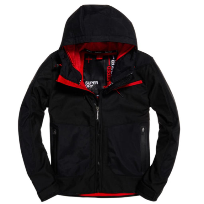 Superdry Hybrid Windtrekker Jacket in Black Coats & Jackets Superdry