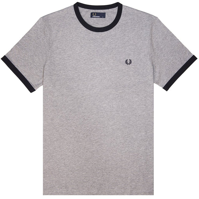 Fred Perry M3519 Ringer Tee in Steel Marl