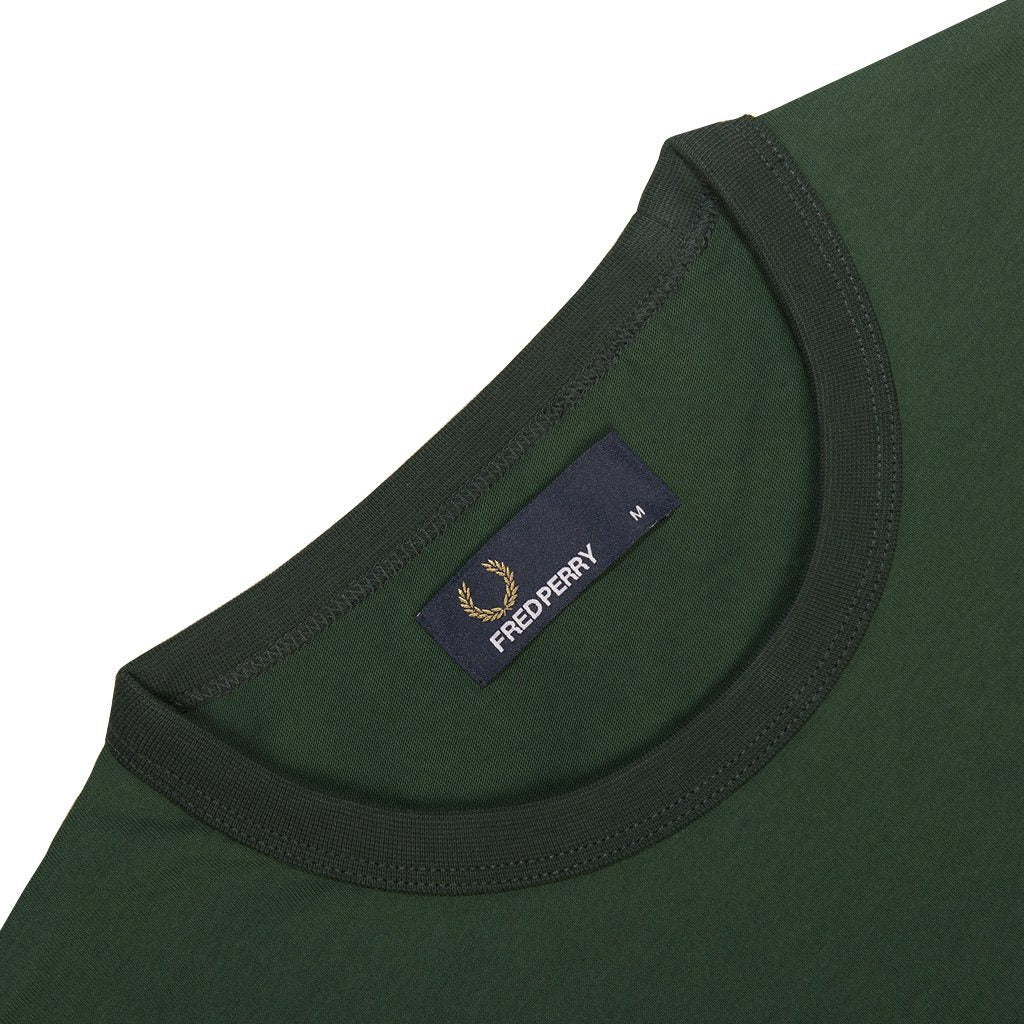 Fred Perry M3519 Ringer Tee in Ivy
