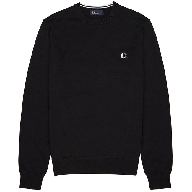 Fred Perry K5523 Crew Neck Jumper in Black
