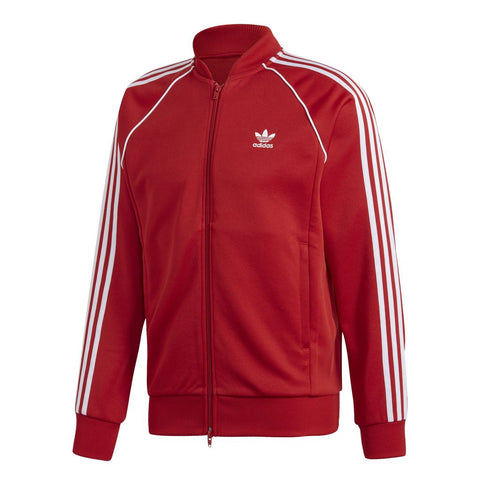 Adidas SST DV1514 Track Top in Red / White Jumpers adidas