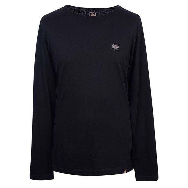 Pretty Green Long Sleeved Tee in Black