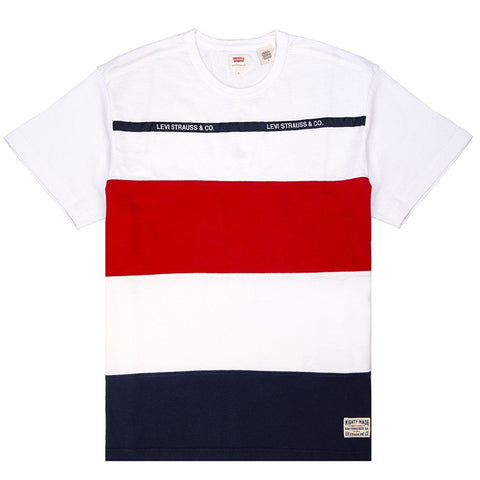 Levi's Mighty Made Taped T-Shirt in White T-Shirts Levi's
