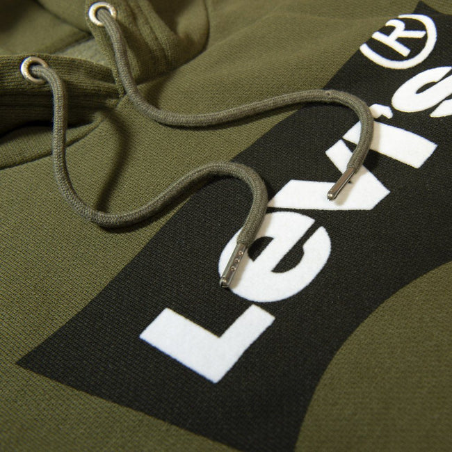 Levi's Bat Wing Hooded Sweatshirt in Olive Green