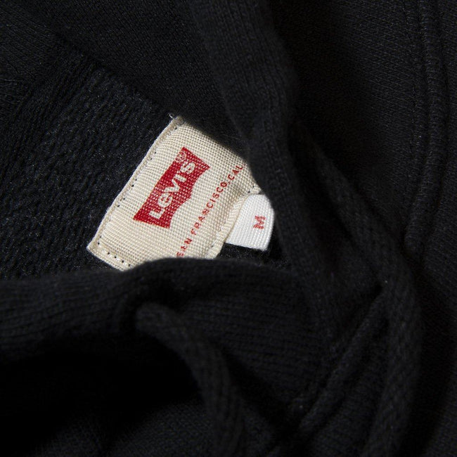 Levi's Block Graphic Hoodie in Black / Red