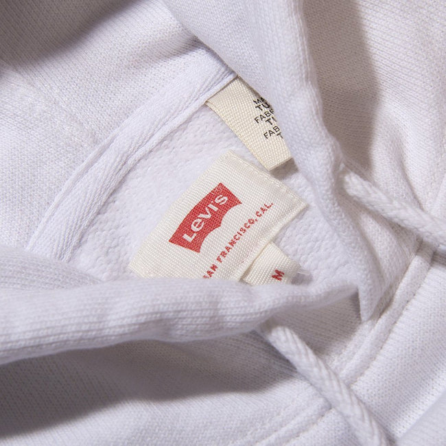 Levi's Block Graphic Hoodie in White / Red / Blue
