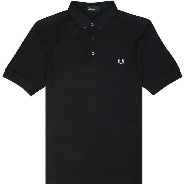 Fred Perry M4541 Oxford Trim Pique Collar Polo Shirt Polo Shirts Fred Perry