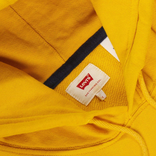 Levi's Colourblock Hooded Sweatshirt in Yellow / White / Black