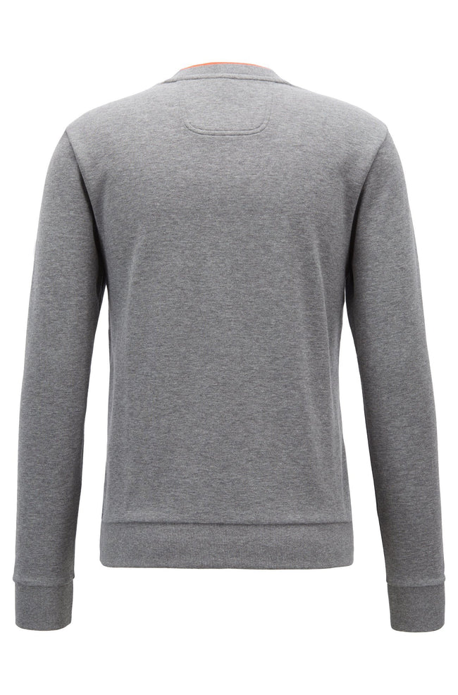 BOSS Athleisure Salbo Crew Neck Sweatshirt in Grey