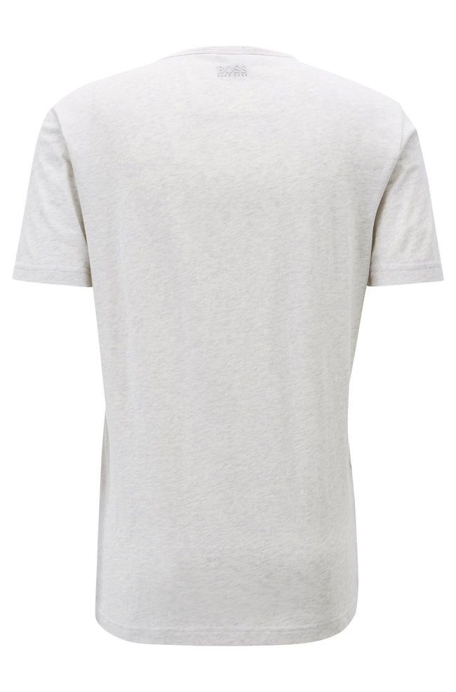BOSS Athleisure Tee 1  Crew Neck Tee in Light Grey