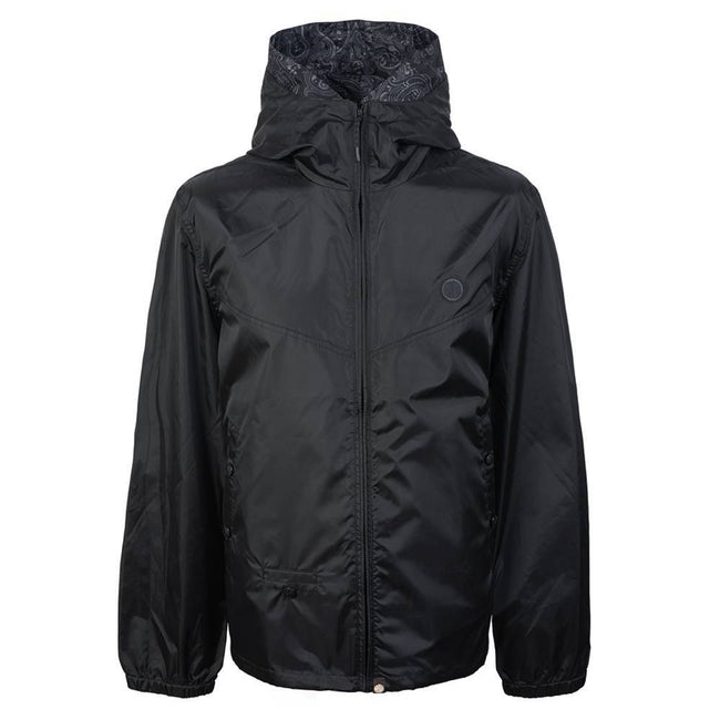 Pretty Green Lightweight Zip Up Hooded Jacket in Black