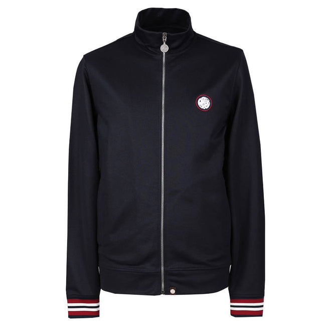 Pretty Green Rib Side Stripe Track Top in Navy