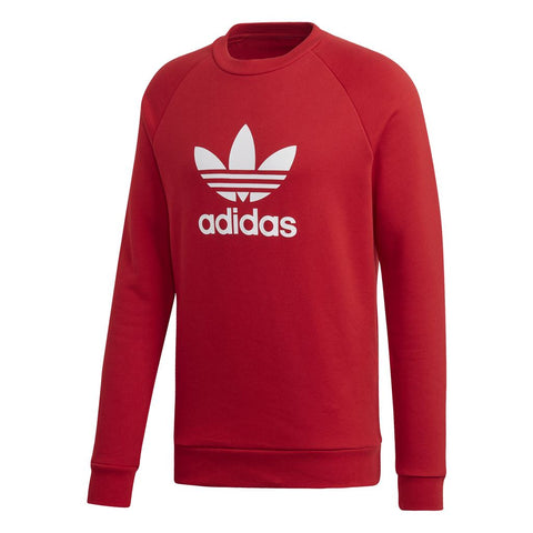 Adidas Trefoil Crew Sweatshirt DX3615 in Power Red Jumpers adidas
