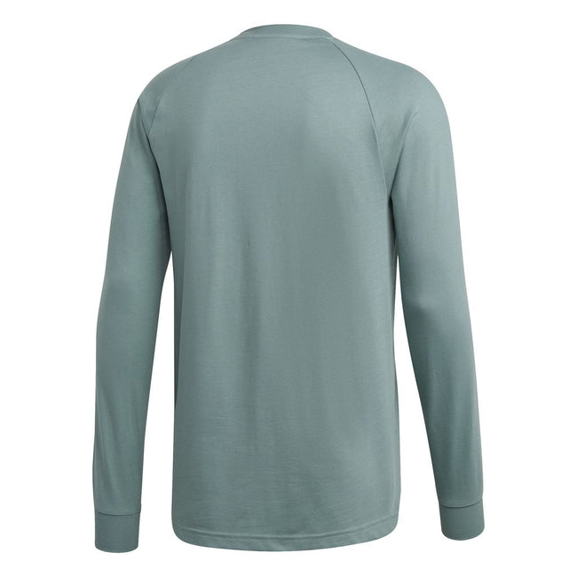Adidas 3 Stripe Long Sleeved Tee DV1557 in Mint Green T-Shirts adidas