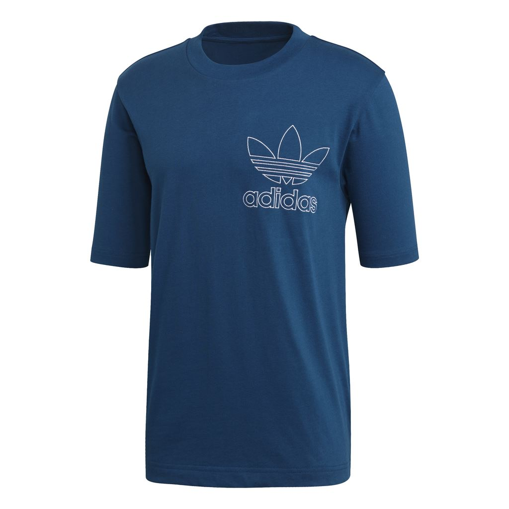 Adidas Outline T-Shirt DW8714 in Legand Marine T-Shirts adidas