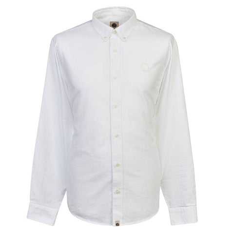 Pretty Green Classic Fit Oxford Shirt in White Shirts Pretty Green