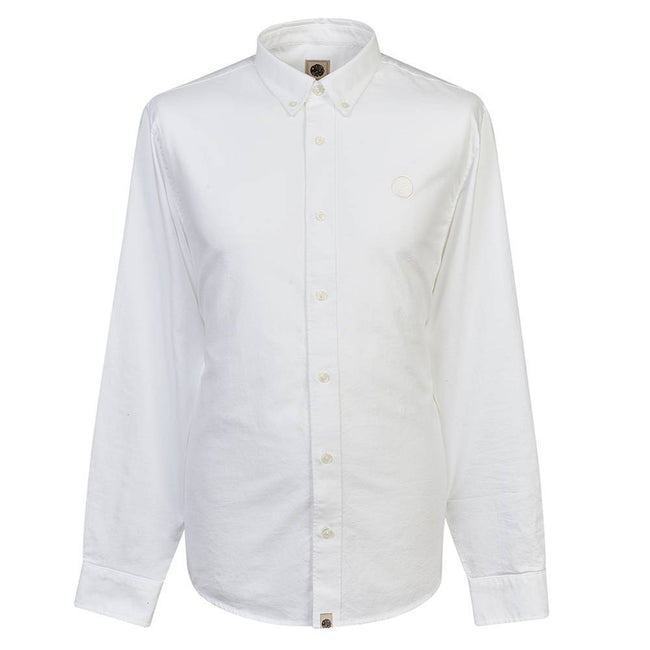 Pretty Green Classic Fit Oxford Shirt in White