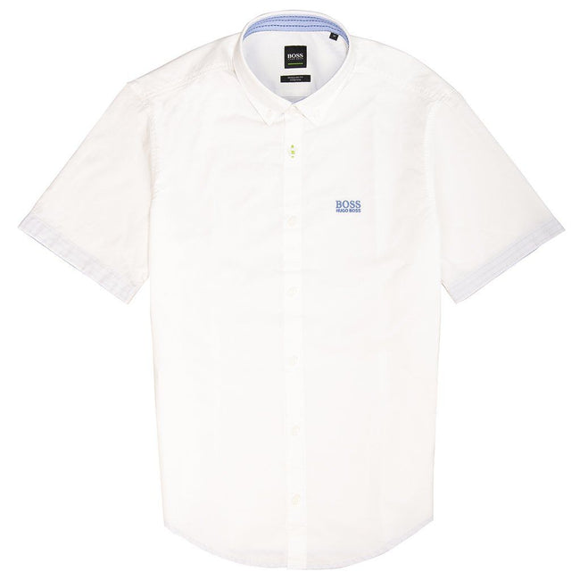 BOSS Athleisure Biadia-R Short Sleeve Shirt in White Shirts BOSS
