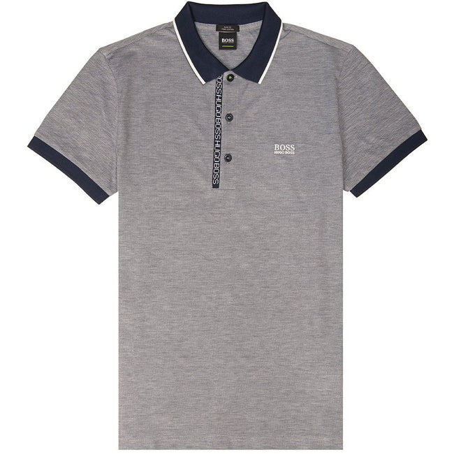 BOSS Athleisure Paule 4 Slim Fit Polo Shirt in Navy