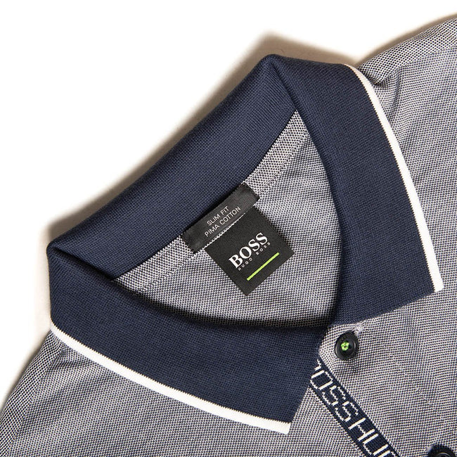 BOSS Athleisure Paule 4 Slim Fit Polo Shirt in Navy Polo Shirts BOSS