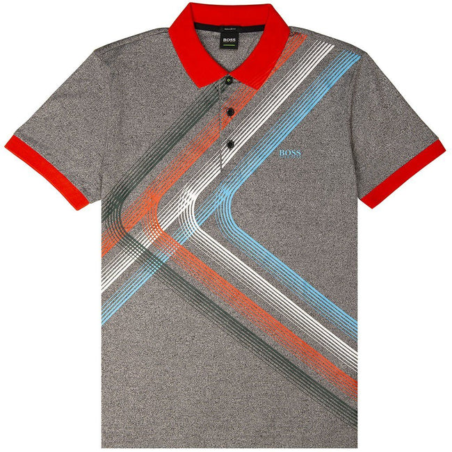 BOSS Athleisure Regular Fit Paddy 4 Polo Shirt in Red