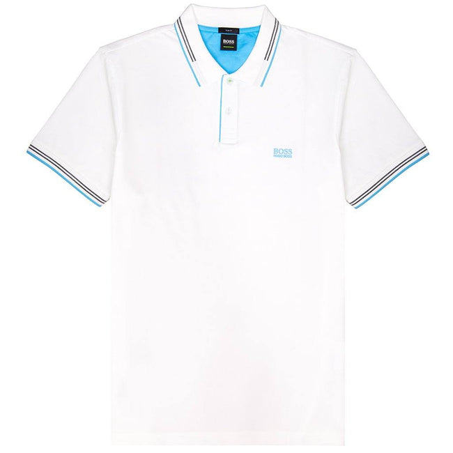 BOSS Athleisure Paul Slim Fit Polo Shirt in White Polo Shirts BOSS