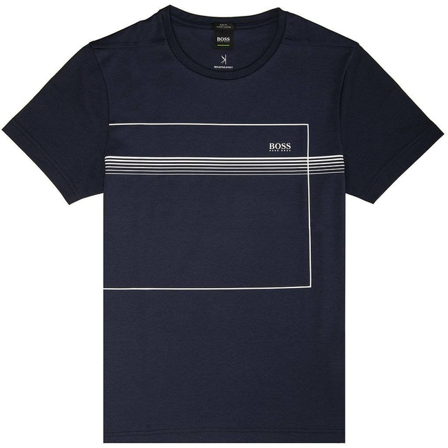 BOSS Athleisure Teepique T-Shirt in Navy T-Shirts BOSS