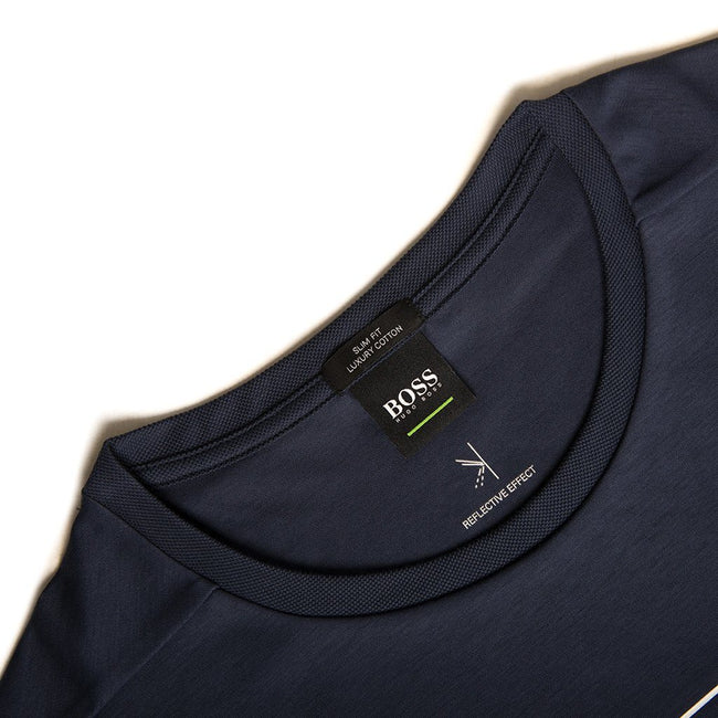 BOSS Athleisure Teepique T-Shirt in Navy