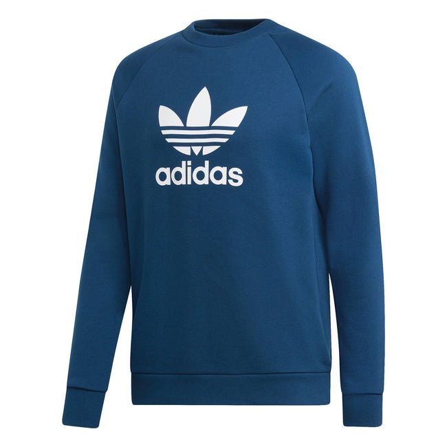 Adidas Trefoil DV1545 Warm-Up Crew Sweatshirt in Legend Marine sweatshirt adidas