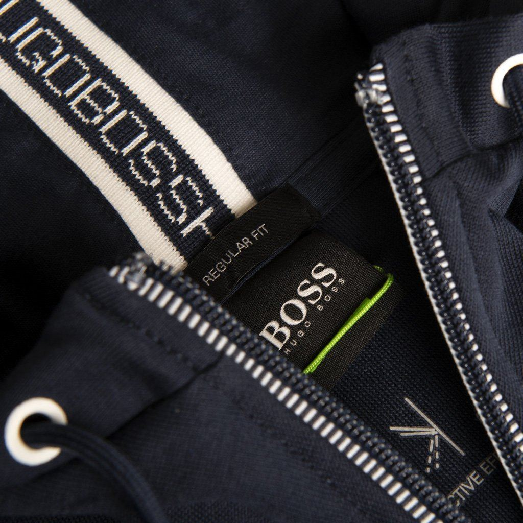 BOSS Athleisure Saggy Full Zip Hooded Sweatshirt in Navy