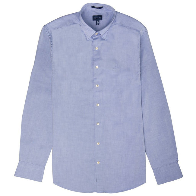 Gant Oxford Plain Shirt In Periwinkle Blue