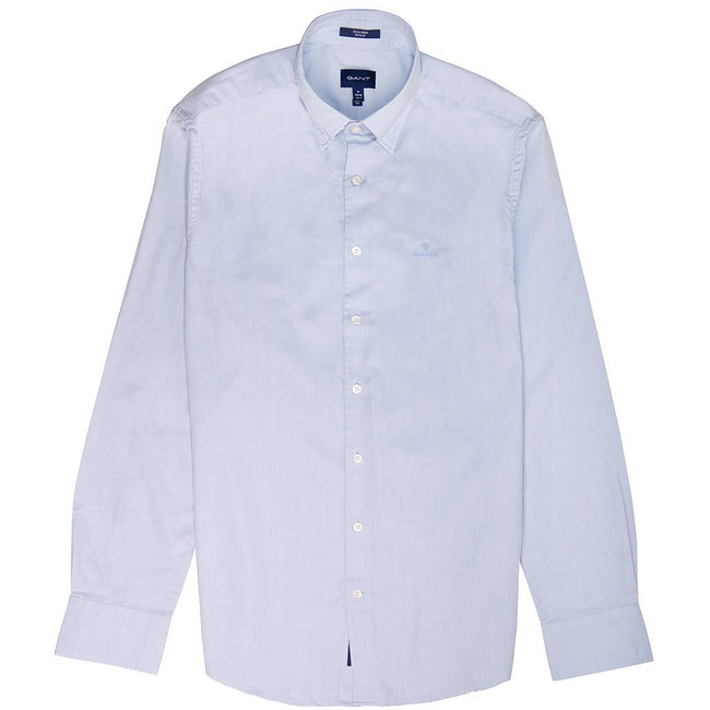 Gant Oxford Plain Shirt in Capri Blue