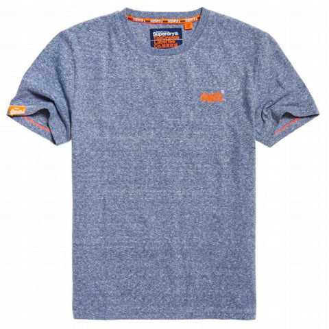 Superdry Orange Label Vintage EMB S/S Tee in Tois Blue Heather T-Shirts Superdry