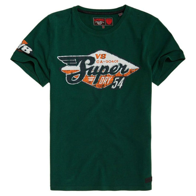 Superdry Custom Tin Tab Tee in Venice Green T-Shirts Superdry