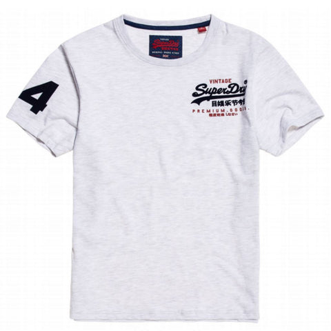 Superdry Premium Goods Essential Lite Tee in Ice Marl T-Shirts Superdry