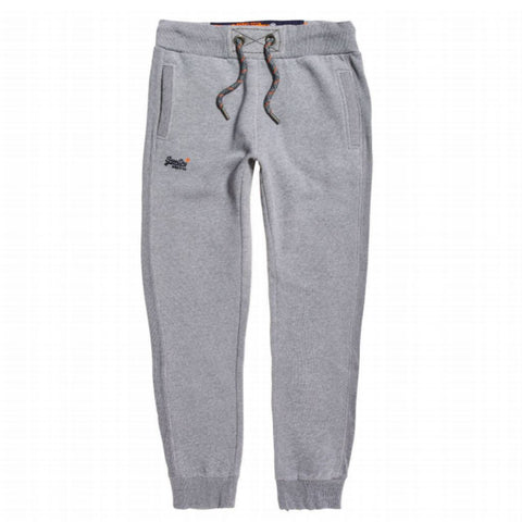 Superdry Orange Label Cuffed Jogger in Vintage Grey Feeder Stripe Joggers Superdry